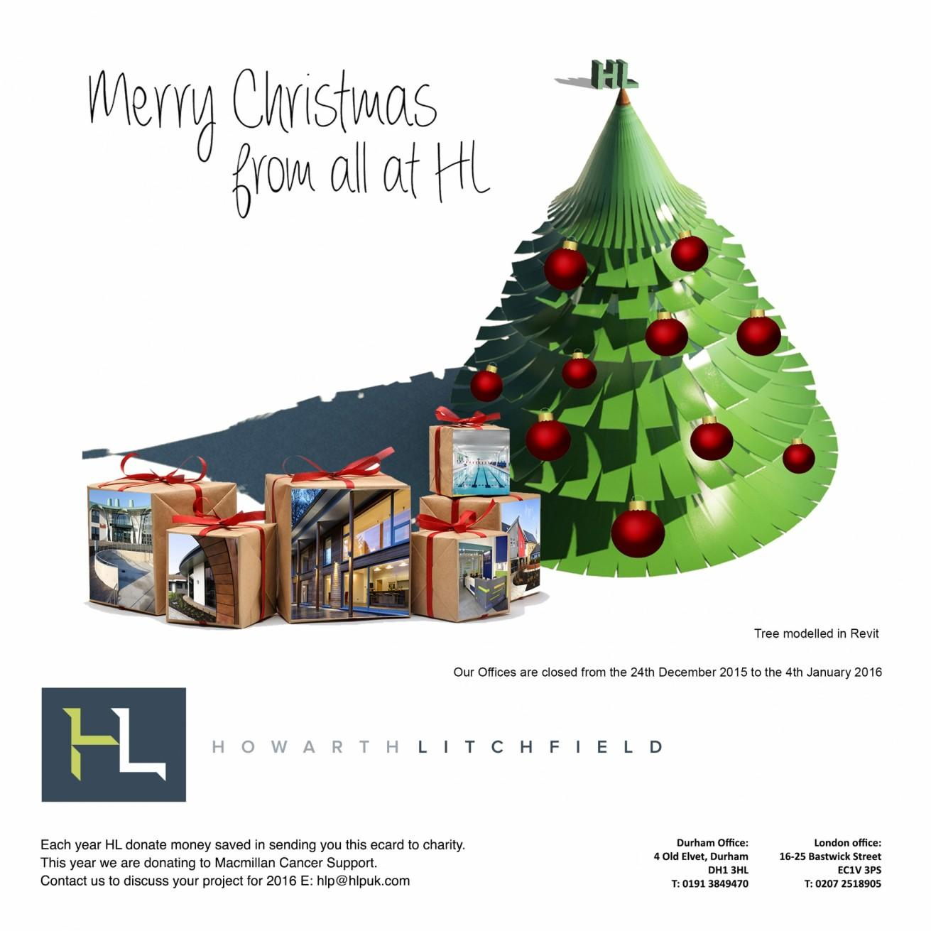 Happy Christmas 2015 Howarth Litchfield Architects