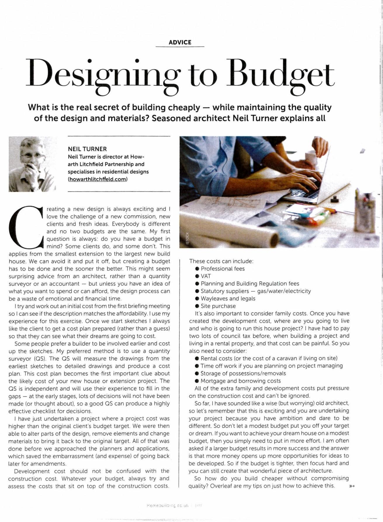 Designing to Budget-1