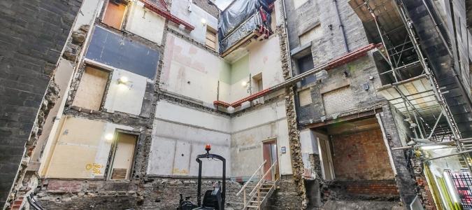 Neville Hall Mining Institute Works Progress