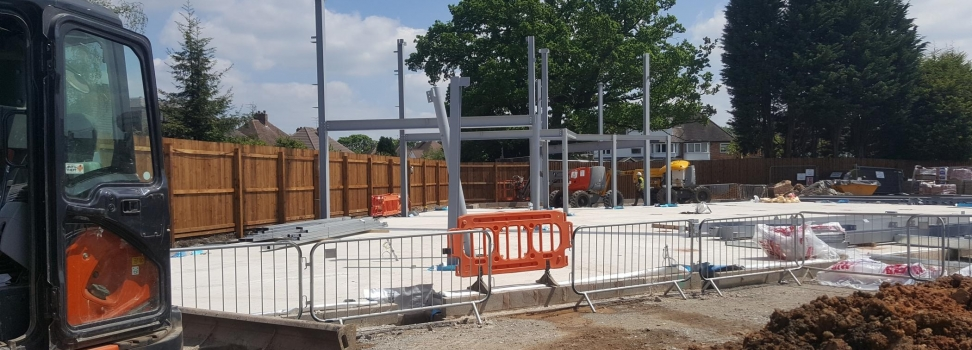 Work Progressing at BSM Ford Dealership
